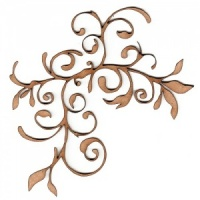 Fancy Flower Flourish MDF Wood Shape - Style 3