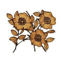 Flowering Dogwood Sprig MDF Wood Shape