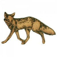 Trotting Fox MDF Wood Shape Style 12