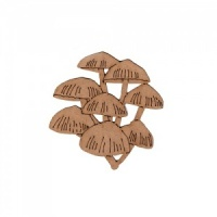 Clump of Flat Mushrooms - MDF Wood Shape