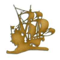 Galleon Boat MDF Wood Shape - Style 10