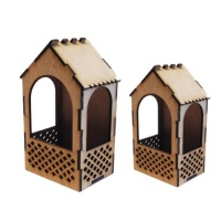 MDF Shrine Kit - Garden Arbour with Panels