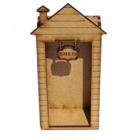 Engraved MDF Garden Shed Kit - Tall with Sign