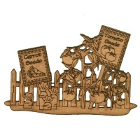 Vegetable Patch Scene - MDF Wood Shape