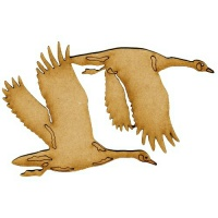 Flying Canadian Geese MDF Wood Bird Shape