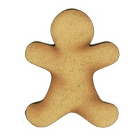 Plain Gingerbread Man - MDF Wood Shape Style 2