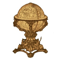 Ornate Navigation Globe - MDF Wood Shape