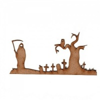 Grim Reaper Border Scene MDF Wood Shape