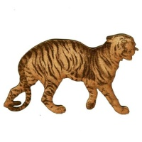 Snarling Tiger - MDF Wood Shape