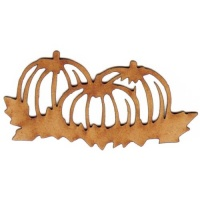Pumpkin Patch Outline MDF Wood Shape