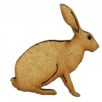 Sitting Hare - MDF Wood Shape