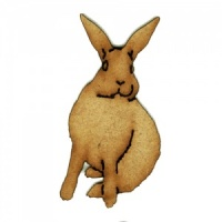 Alert Hare - MDF Wood Shape