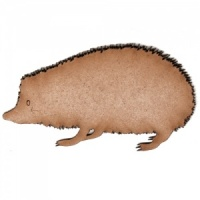 Hedgehog MDF Wood Shape Style 1