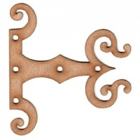 Gothic Style Decorative Hinge MDF Wood Shape