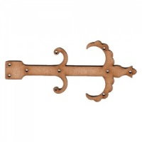 Scallop & Scroll Decorative Hinge MDF Wood Shape