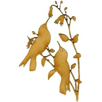 Hummingbird Duo MDF Wood Bird Shape