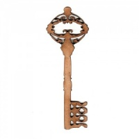 Ornate Key Style 3 MDF Wood Shape x 2
