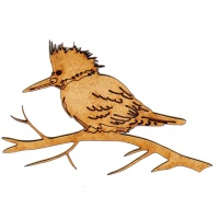 Kingfisher MDF Wood Bird Shape
