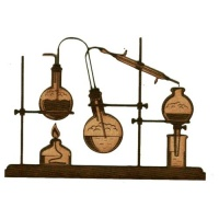 Chemistry Laboratory Apparatus  - MDF Wood Shape 04