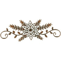 Poinsettia, Fir Sprigs & Holly Flourishes - MDF Lace Cut Wood Shape