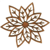 Poinsettia Flower - MDF Lace Cut Wood Shape