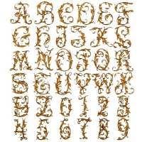 MDF Letters & Numbers - Leafy Glade Font