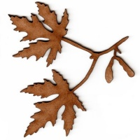 Maple Leaf & Twig - MDF Wood Shape