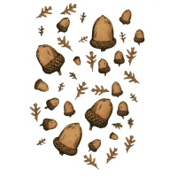 Sheet of Mini MDF Acorns & Oakleaves