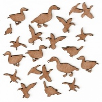 Sheet of Mini MDF Wood Birds - Ducks & Geese