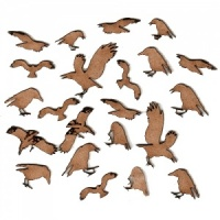 Sheet of Mini MDF Wood Birds - Crows & Ravens