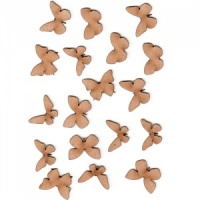 Sheet of Mini MDF Wood Butterflies - Style 1