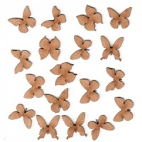 Sheet of Mini MDF Wood Butterflies - Style 2