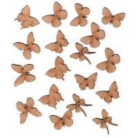 Sheet of Mini MDF Wood Butterflies - Style 4