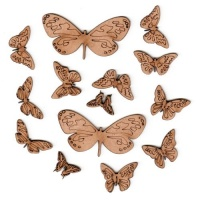 Sheet of Mini MDF Wood Butterflies - Style 6