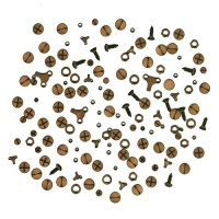 Sheet of Mini MDF Hardware Wood Shapes
