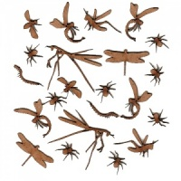 Sheet of Mini MDF Wood Insects Style 2