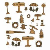 Sheet of Mini MDF Nautical Motifs Style 5