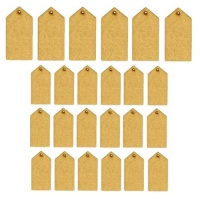 Sheet of Mini MDF Tags - Pointed Top