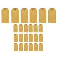Sheet of Mini MDF Tags - Classic