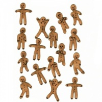 Sheet of Mini MDF Christmas Wood Shapes - Gingerbread Men