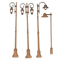 Sheet of Mini MDF Wood Lamp Posts - Style 1