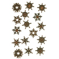 Sheet of Mini MDF Christmas Wood Shapes - Snowflakes 1