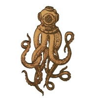 Deep Sea Diver Octopus - MDF Wood Shape