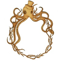 Octopus & Seaweed Frame - MDF Wood Shape