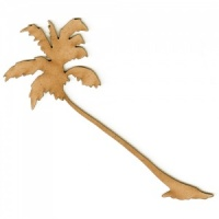 Leaning Palm Tree MDF Wood Shape