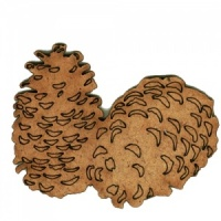 Pinecones MDF Wood Shape