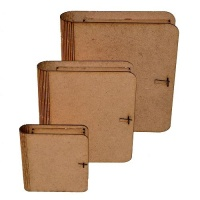 MDF Plain Cover Book Box Kit
