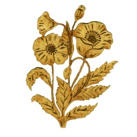 Wild Poppies MDF Wood Shape - Style 57