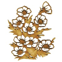 Primrose Flower Patch MDF Wood Shape - Style 1