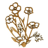 Primrose Flower Patch MDF Wood Shape - Style 2